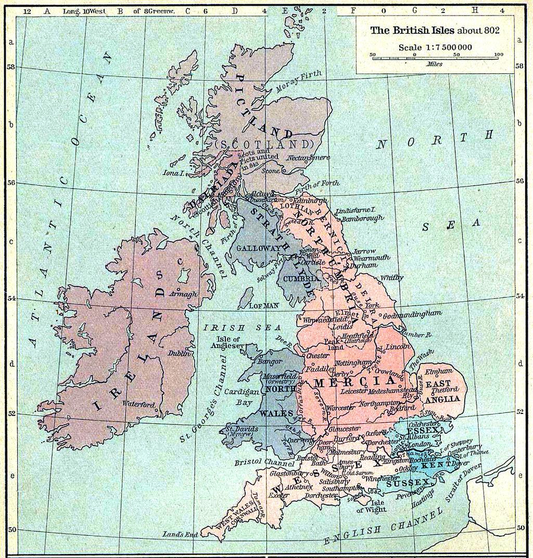 800年頃のグレートブリテン(画像出典:Wikipedia)